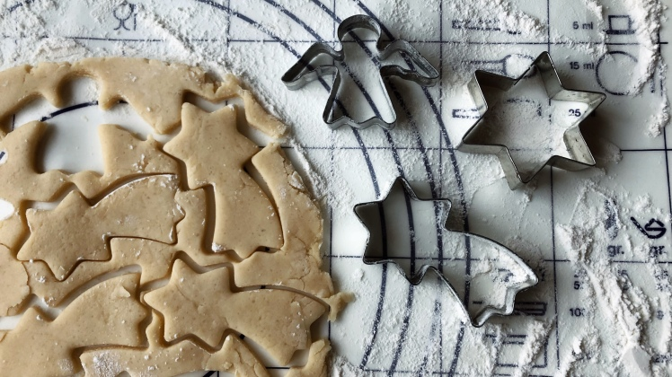 Cutting out cookies