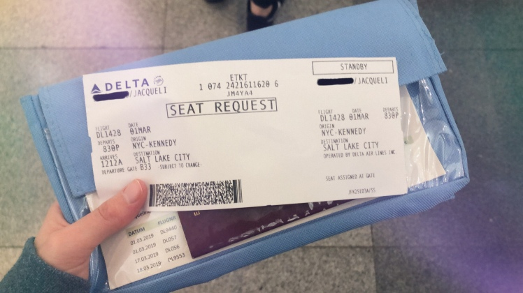 Standby flight ticket