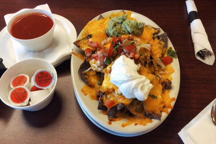 Nachos in Moab at peace tree juice cafe