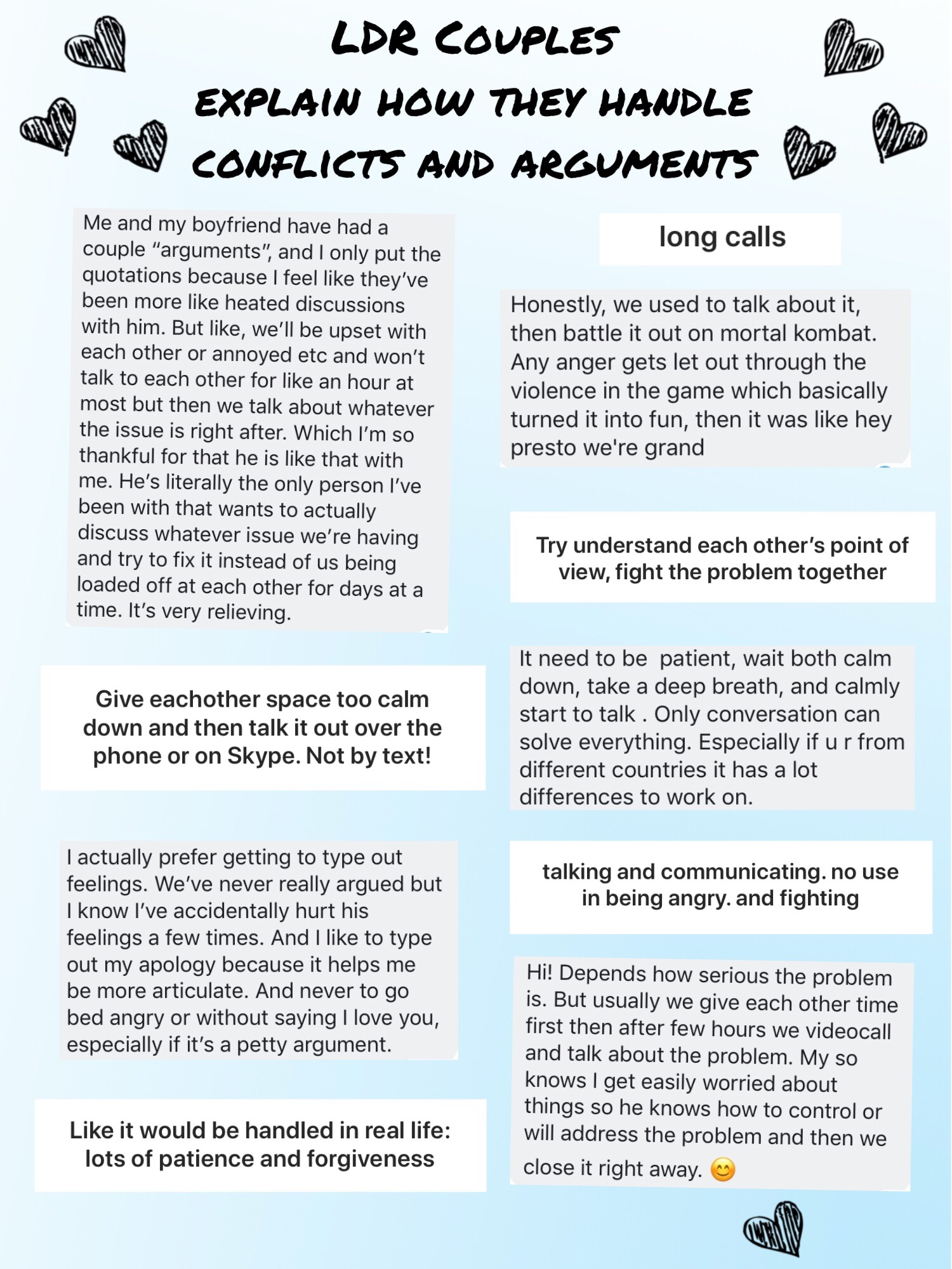 ldr couples explain how they handle conflicts and arguments